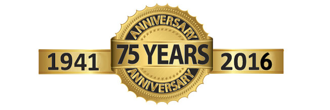 Celebrating 75 Years Logo